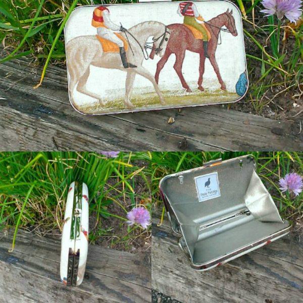 Horse print clutch bag