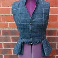 Ladies bespoke tweed waistcoat