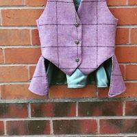 Girls bespoke tweed waistcoat