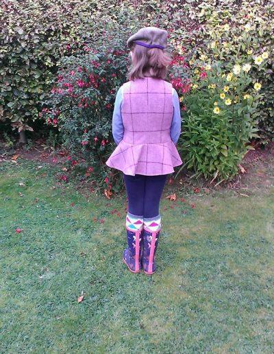 Girls peplum waistcoat