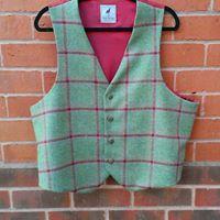 Tweed mens waistcoat
