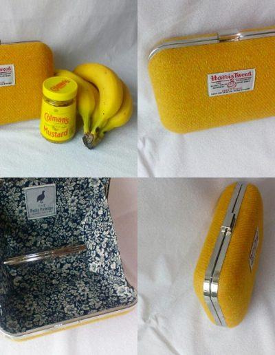 Mustard yellow clutch bag