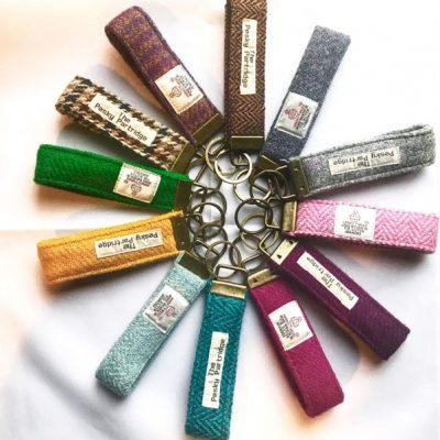 Tweed keyrings, various colours