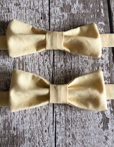 boys lemon bow ties