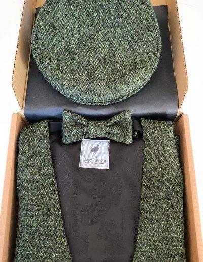 Ladies green tweed set