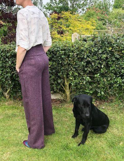 Ladies tweed trousers