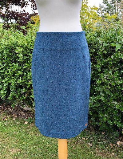 Petrol tweed skirt