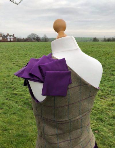 tweed ball dress bk shoulder