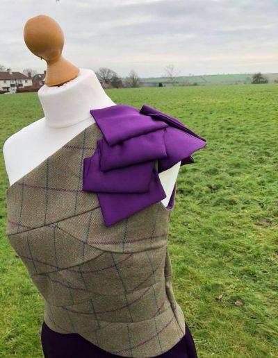 tweed ball dress shoulder